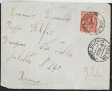 POSTA MILITARE -FRONTESPIZIO DA PM 550 (RODI)(bollo 1) (p.3) 03.12.1940 PER ROMA - Military Mail (PM)