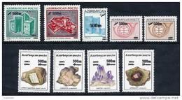AZERBAIJAN 2003 500m Surcharges (9v) MNH / ** - Azerbaïjan