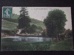 SAINT-APPOLINAIRE (Rhône) - L'ETANG Du MOULIN - Animée - Voyagée Le 11 Septembre 1911 - France
