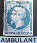 "Lot R1861/638 - NAPOLEON III N°14B - Cachet AMBULANT "" PL1° "" - 1853-1860 Napoleon III"