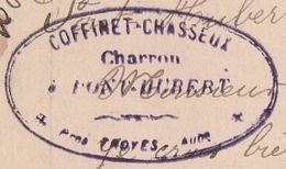 Carte Lettre Commerciale 1909 / COFFINET CHASSEUX / Charron / Pont-Hubert / 10 Aube - Maps