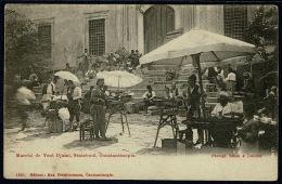 RB 1183 -  Max Fruchtermann Postcard Marche De Yeni Djami Constantinople Turkey Rare Odessa Paquebot Postmark - Turkey