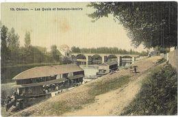 Chinon - Les Quais Et Bateaux-lavoirs - Chinon