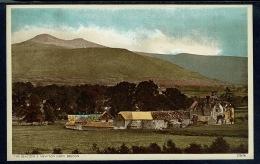 RB 1183 -  Postcard The Beacons & Newton Farm Brecon - Breconshire Wales - Breconshire