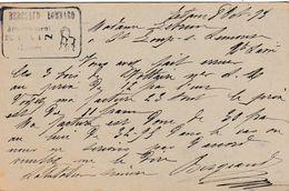 Carte Lettre Commerciale 1895 / BERGEAUD LOMBARD / Ameublement / 55 Etain / Meuse - Maps