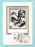 San Marino 1982  Mi.Nr.  1250 , EUROPA CEPT , Historische Ereignisse  - Maximum Karte 21.-4.1982 - Europa-CEPT