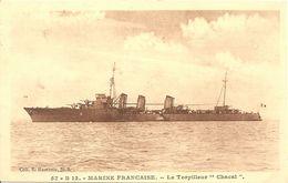 Cpa Marine Militaire Française Torpilleur Chacal - Guerra