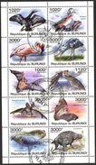 (BU02) Burundi 2011 Bats Birds Dinosaurs Sheet Used / CTO - Burundi