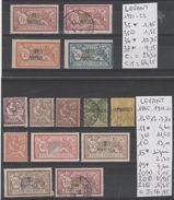 TIMBRES EN LOT DU LEVANT OBLITEREES -NEUF * /(*)  NR Voir Sur Papier Avec Timbres 1885-1902-20-21-22 Cote 68.25€ - Oblitérés