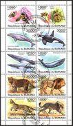 (BU03) Burundi 2011 Honey Bees Whales Wild Cats Lions Sheet Used / CTO - Burundi