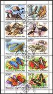 (BU06) Burundi 2011 Butterflies Birds Marine Life Crab Fishes Sheet Used / CTO - Burundi