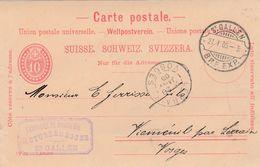 Carte Commerciale / Entier UPU Suisse / 1905 / Fabrique Broderie STURZENEGGER / ST GALLEN / Schweiz - Maps