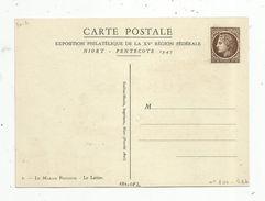 Entier Postal ,neuf ,SUR CARTE POSTALE , Vierge Le Marais Poitevin, Le Laitier, Illustrateur, 1947 , 2 Scans - Entiers Postaux