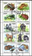(BU12) Burundi 2011 Monkeys Fishes Frogs Sheet Used / CTO - Burundi