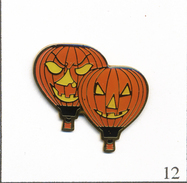Pin's Montgolfière - Ballons Halloween. Non Estampillé. Epoxy. T562-12 - Airships