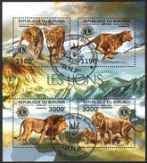 (BU15) Burundi 2012 Lions Club Sheet Used / CTO - Burundi