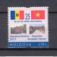 Moldova 2017 25 Years Of Diplomatic Relations  Moldova - Vietnam  1v** MNH - Moldova
