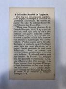 L' Ex Président Roosevelt Et L' Angleterre  Un Petit Feuillet - Historical Documents
