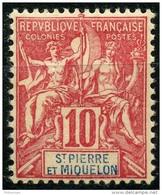 Saint Pierre Et Miquelon (1900) N 73 * (charniere) - St.Pierre Et Miquelon