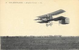 Nos Aéroplanes: Aéroplane Biplan Farman - Carte LL N° 9 Non Circulée - ....-1914: Précurseurs