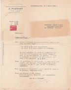 - 71 - BOURBON-LANCY - Facture C. PUZENAT - 025 - Non Classificati