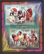 {CA22} Central African Republic 2012 Dogs Sheet Used / CTO - Zentralafrik. Republik