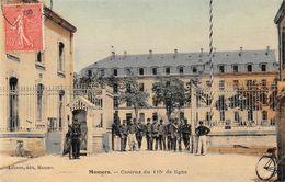 MAMERS - Caserne Du 115e De Ligne (carte Toilée) - Mamers