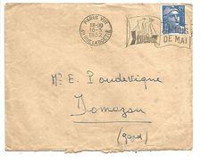 OBLITERATION MECANIQUE FOIRE DE PARIS DU 10/5/1952 - Storia Postale