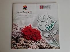 Alt1036 Brochure Presentazione Regione Piemonte Euroflora 2001 Genova Fiera Fiori Piante Expo Esposizione Internazionale - Programmi