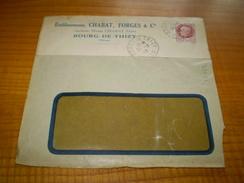 Enveloppe Commerciale Bourg De Thizy Rhône, Ets Chabat Forges & Cie, Cachet Bourg De Thizy Sur Pétain 1,50f 1943 - Francia