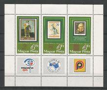 Hungary 1984 Ausipex Sheet Y.T. 2900/2902 ** - Blocks & Sheetlets