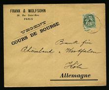 A5064) Frankreich France Brief Nach Germany Versand Börsenberichte - France