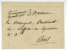 Le Lieutenant-General Command.t La 1re D.on Mre LSC Senechal No. 4268 (fev 1828) Oudinot Bureau Special Franchise - 1801-1848: Precursori XIX