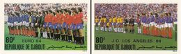 Djibouti 1984, Football Euro Cup, Olympic Games In Los Angeles, 2val IMPERFORATED - Fußball-Europameisterschaft (UEFA)