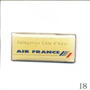 Pin's Aviation - Cie Air France / Délégation Côte D'Azur. Non Estampillé. Epoxy. T564-18 - Airplanes