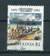 1992 Saint Lucia Columbus $1.00 Used/gebruikt/oblitere - St.Lucia (1979-...)