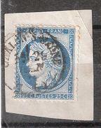 CERES N° 60 Obl Cachet à Date De CHALON Sur SAONE, Saone Et Loire , Sur Fragment,TB - 1871-1875 Cérès
