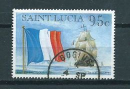 1996 Saint Lucia France Flag 95 Cents Used/gebruikt/oblitere - St.Lucia (1979-...)