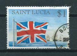 1996 Saint Lucia UK Flag $1.00 Used/gebruikt/oblitere - St.Lucia (1979-...)