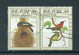 1988 Malaysia Pair Birds,oiseaux,vögel Used/gebruikt/oblitere - Maleisië (1964-...)