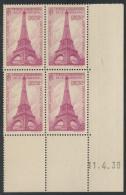 France N°429 Bloc Coins Datés, Neufs ** Sans Charnière - TB - COTE 85 € - France