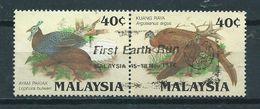 1986 Malaysia Pair Birds,oiseaux,vögel Used/gebruikt/oblitere - Maleisië (1964-...)
