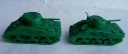 RARE  ATLANTIC Réf 613 1/72 2 2 CHARS SHERMAN ATLANTIC  - No Airfix Matchbox Esci ..  1 CHAR INCOMPLET - Army