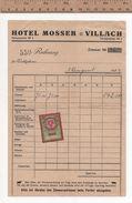 FA1 HOTEL MOSSER VILLACH 1924 - Austria