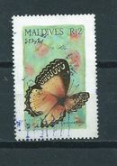 Malediven Vlinder,butterfly,papillon Used/gebruikt/oblitere - Maldiven (1965-...)