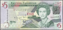 TWN - EAST CARIBBEAN STATES 47 - 5 Dollars 2008 Prefix BX UNC - Caraibi Orientale