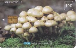 ISN-052 TARJETA DE ESPAÑA DE ISERN DE UNAS SETAS-MUSHROOM SERIE OTOÑO Nº2 (CON NUMERACION) - Espagne