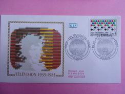 FRANCE FDC 1985 YVERT 2353 TÉLÉVISION - FDC