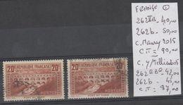 TIMBRE DE FRANCE  Nr 262 II B-262b  MAURY 2015 COTE90€ Y/TELLIER 2005 COTE 87€ - France