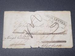 INDE - Lettre ( Sans Texte ) D 'Inde Pour Londres Redirigée Vers Aberdeen - L 11466 - ...-1852 Prephilately